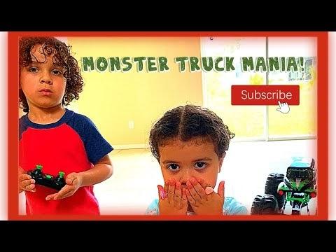 Luca Enters The World of Monster Jam! (RC Driving Mega Grave Digger)