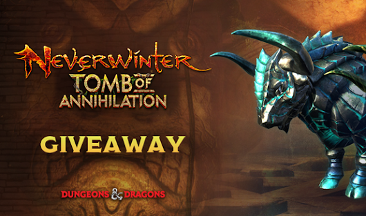 Neverwinter Mount Giveaway - Win a Teal Stained Gorgon