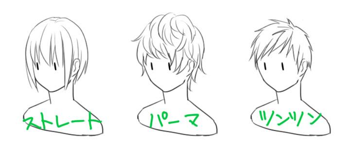 キャラクターの描き分け髪型4 箱の中のユーフォリアスタッフ