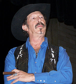 Kinky Friedman contemplates a question from th...