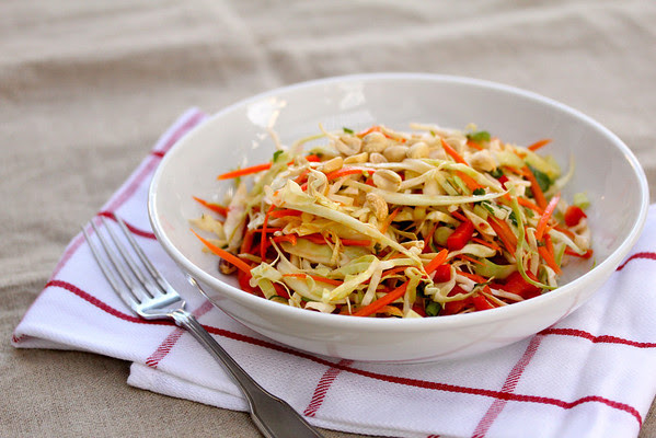 Thai Cabbage Salad from Karen's Kitchen Stories