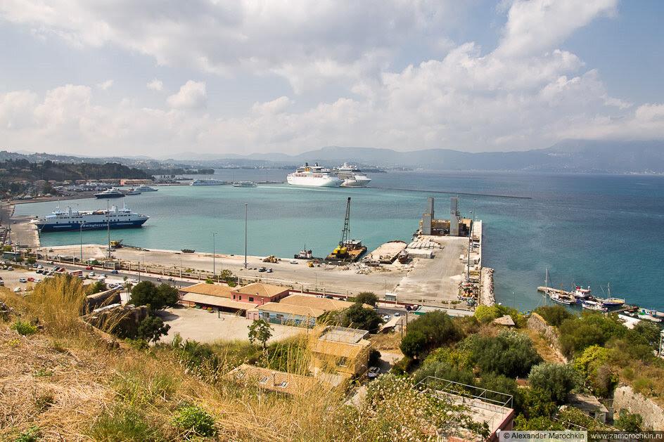 Порт в Керкире (Корфу, Греция)