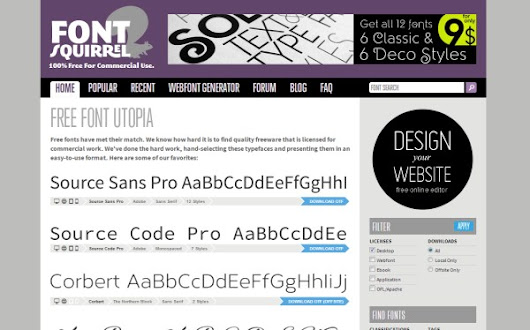 10 Awesome Font and Typography Resources for Web Designers | Vandelay Design Blog