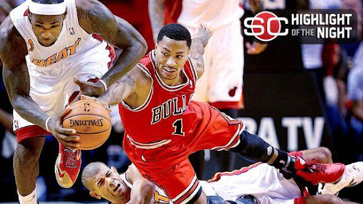 LeBron, Heat top Bulls, spoil Rose's return