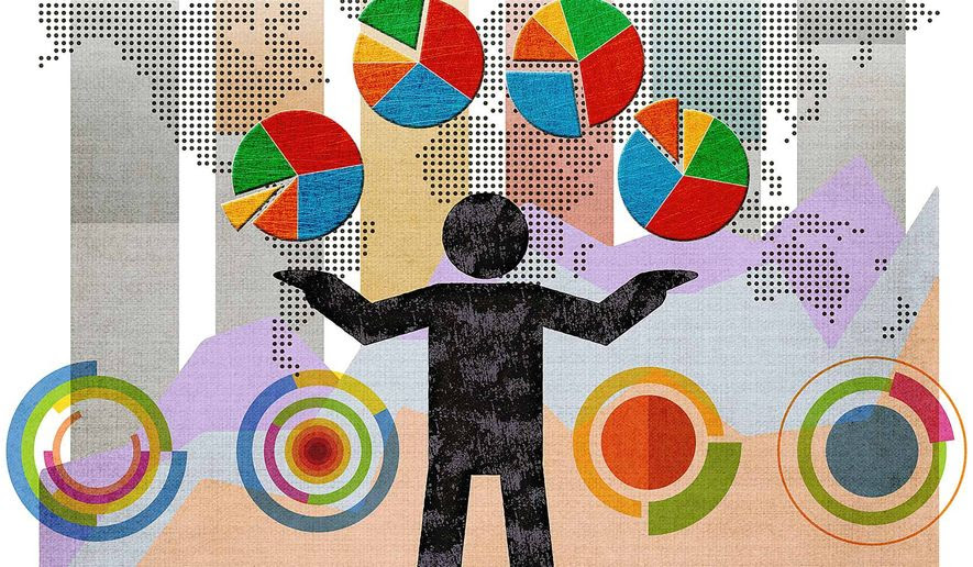 Juggling Mega-Data Illustration by Greg Groesch/The Washington Times