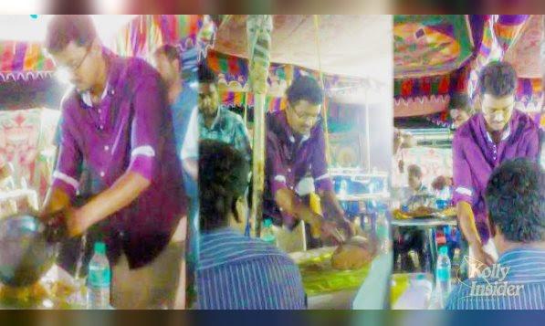 Vijay serves Briyani
