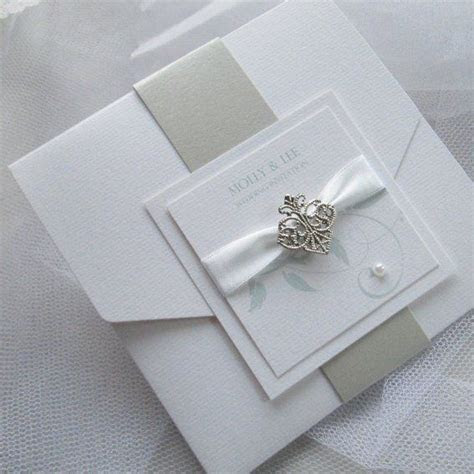 Pocketfold invitation with belly band wrap   Fifi Handmade