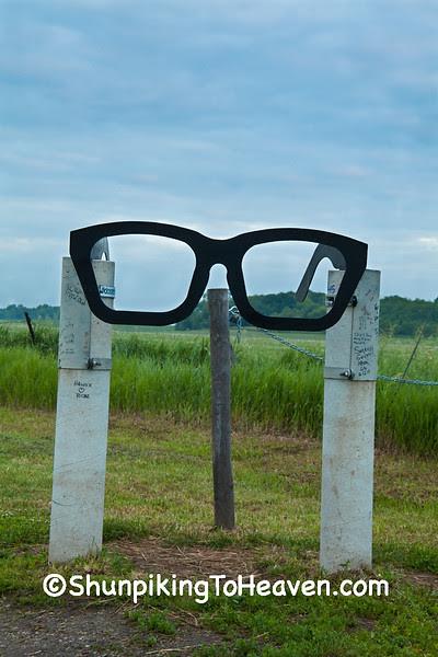 Buddy Holly Glasses at Crash Site Entrance, Cerro Gordo County, Iowa