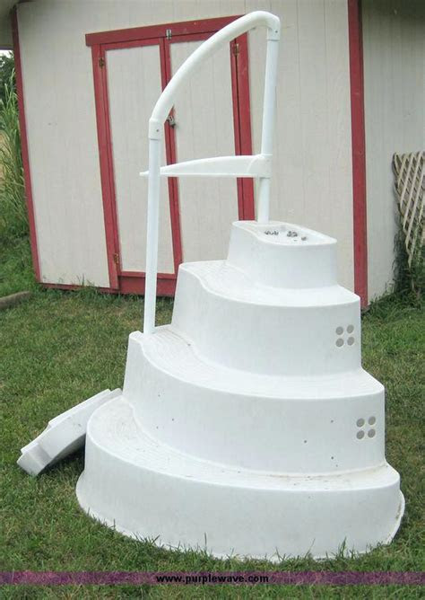 pool. Wedding cake steps for above ground pools   Summer