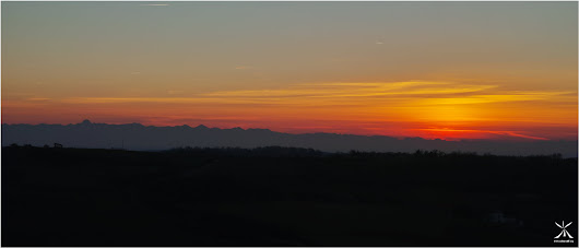 [Oc'Science] Sunset - Chain of the Pyrenees - Lauragais