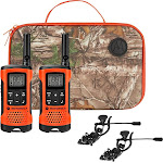 Motorola - Talkabout 25-Mile, 22-Channel FRS/GMRS 2-Way Radios (Pair) - Blaze orange