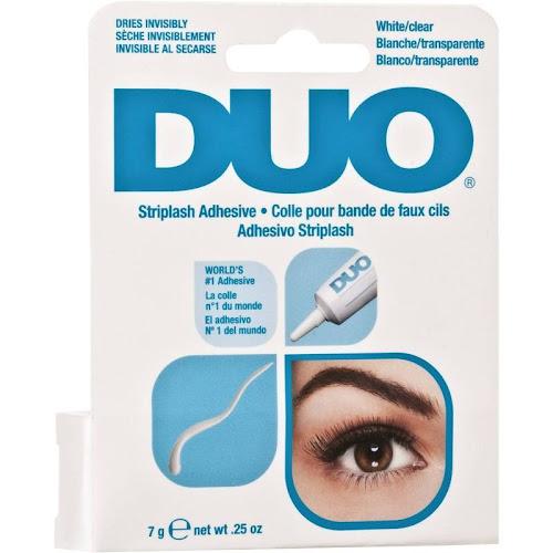 DUO Strip Lash Adhesive White/Clear for Strip False Eyelashes, 0.25 oz