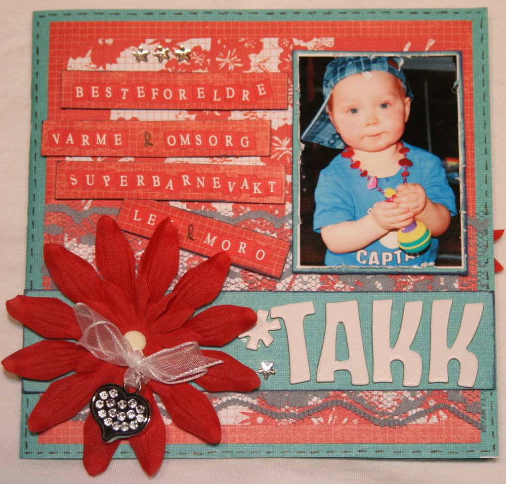 Takkekort til besteforeldre for pass - fremsiden av kortet