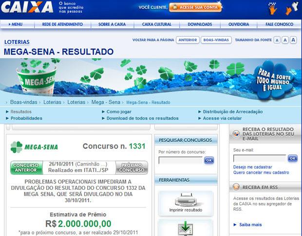 Problema na Mega-Sena (Foto: Reprodução)
