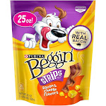 Purina Beggin' Bacon & Cheese Flavors Adult Dog Treats - 25 oz. Pouch