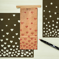 Hearts  Stars Decorative Masks