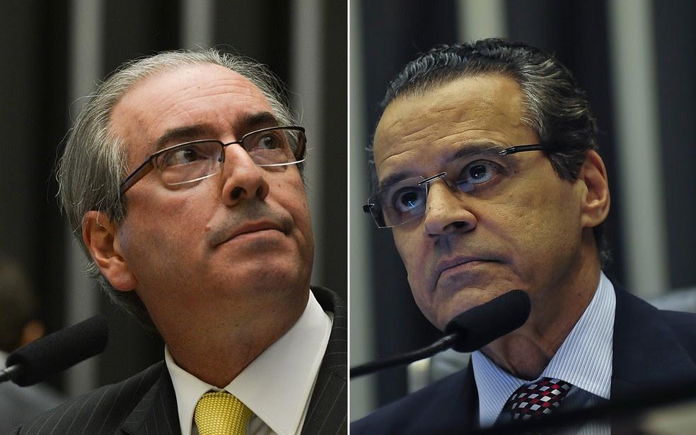 Os peemedebistas Eduardo Cunha e Henrique Eduardo Alves são acusados de recursos públicos, lavagem de dinheiro e corrupção ativa e passiva (Foto: Fabio Rodrigues Pozzebom/Agência Brasil e José Cruz/Agência Brasil)
