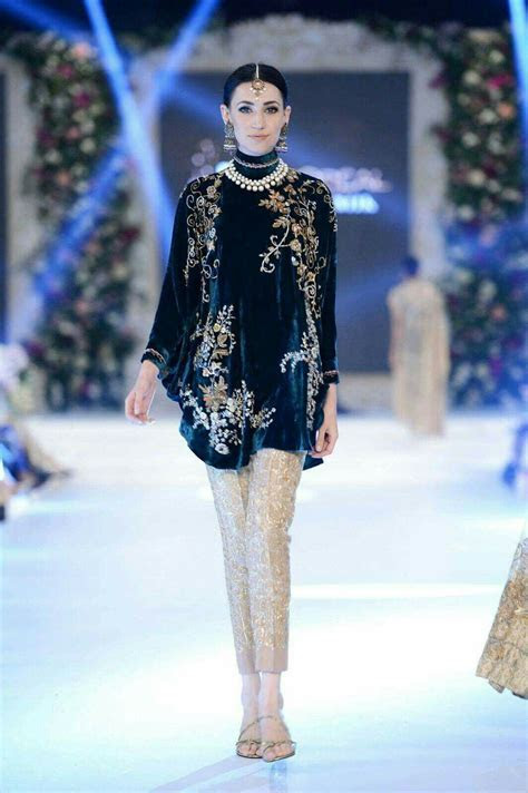 Pakistani hand crafted velvet shirt with trouser   dresses