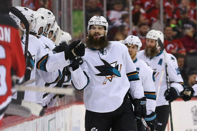 Brent Burns (88) a marqué ses 23e et... (Photo Ed Mulholland, USA Today Sports)