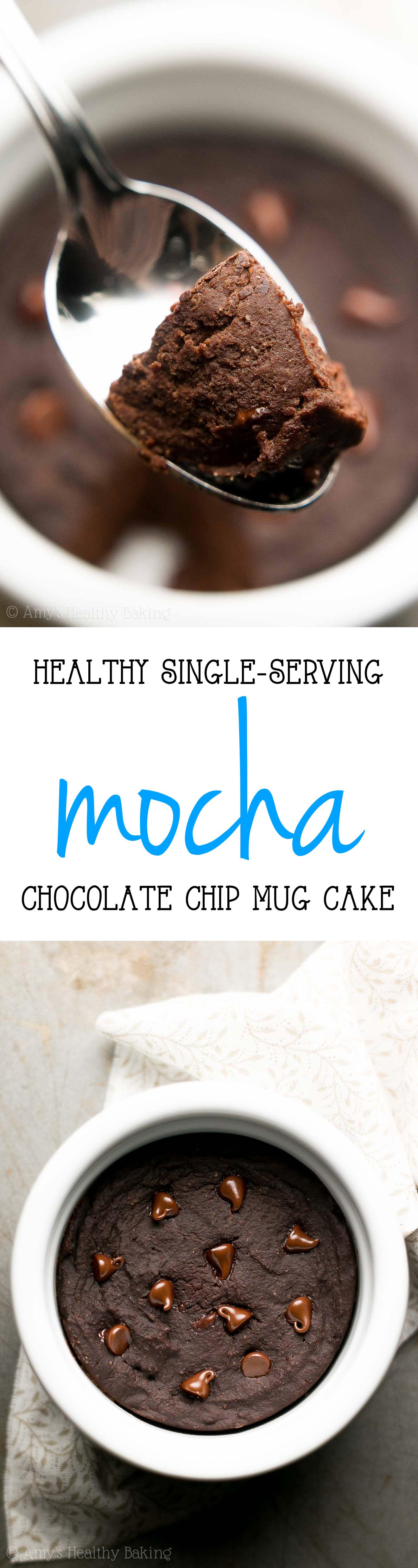 Healthy Single-Serving Mocha Chocolate Chip Mug Cake | Amy ...