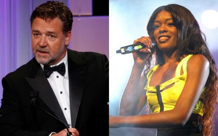Image result for azealia banks and russell crowe 2016