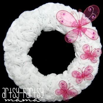 Butterfly Rosette Wreath