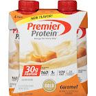 Premier Protein Shake, Caramel - 4 pack, 11 fl oz each