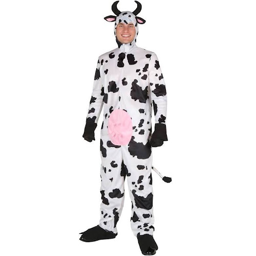 Bayi Co. Adult Happy Cow Costume, Men's, Size: Medium, White