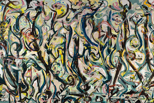 Jackson Pollock's largest painting makes DC debut at the National Gallery of Art
