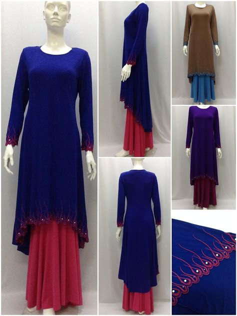 baju kurung modern long fishtail  princess dress