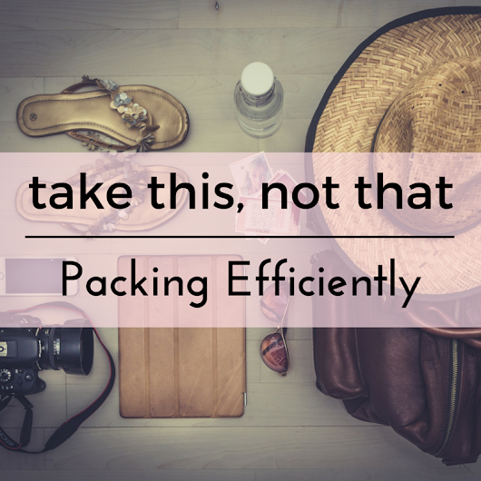 Take This, Not That: Packing Efficiently