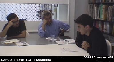 Jorge García de la Cámara, Pere Joan Ravetllat i Joan Sanabria en el Centro de Enlace AE BCN para SCALAE