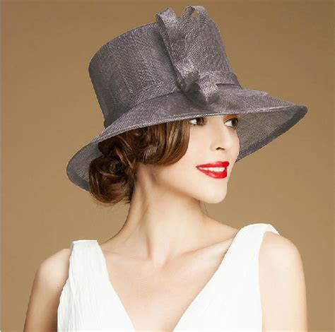 Wholesale 100% Sinamay Wedding Church Hats Plain Church