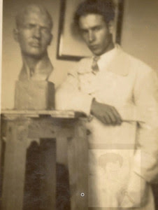 Retrato de un compañero de la Academia de Bellas Artes de San Fernando en 1931.