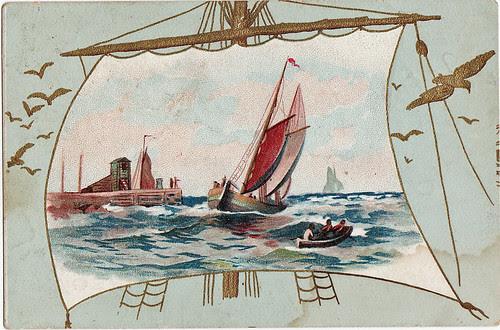 sailboat trade card