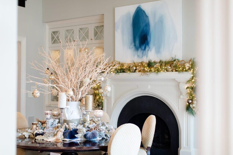 Blue Christmas Decorating Ideas - A Tour of Our Home