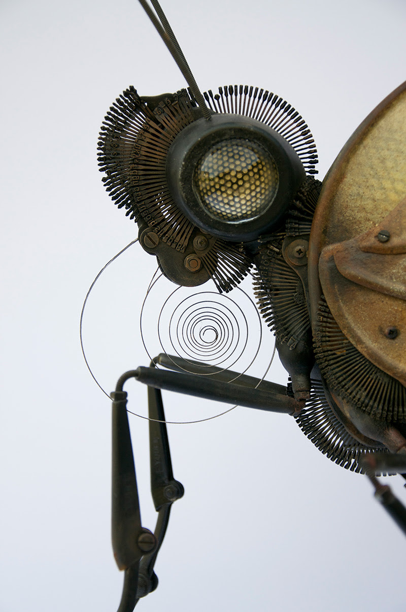 New Animal and Insect Assemblages Made from Repurposed Objects by Edouard Martinet sculpture insects assemblage animals