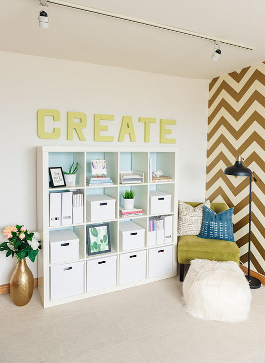 Our Bright Budget Friendly Office DIY with BEHR - Inspired By This