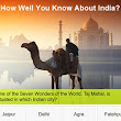 Quiz: How Well You Know About India | Volunteering India