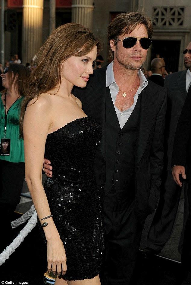 Split: Jolie pediu o divórcio de Pitt em setembro passado eo ex-casal está no meio de uma batalha de custódia sobre seus filhos