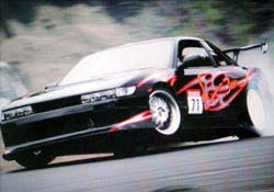 Drifting action from the Crazy Wiill Drift Team (Απίστευτα  Drifting)