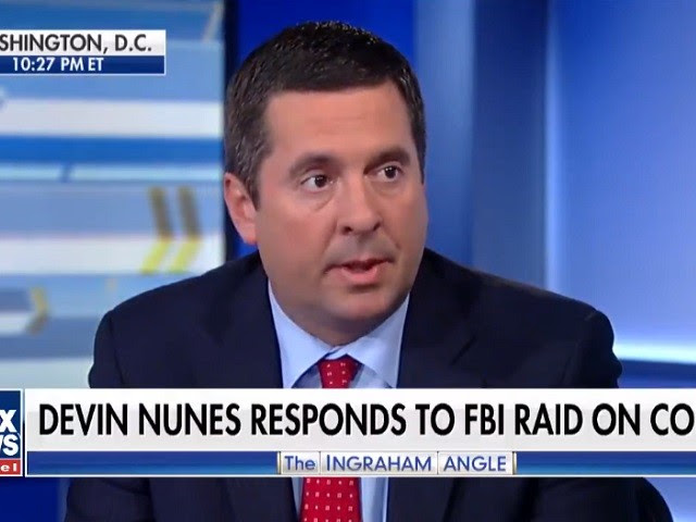 Image result for GOP Rep Nunes: 'We Will Have a Plan to Hold in Contempt and to Impeach' FBI Wray Over Withheld Documents