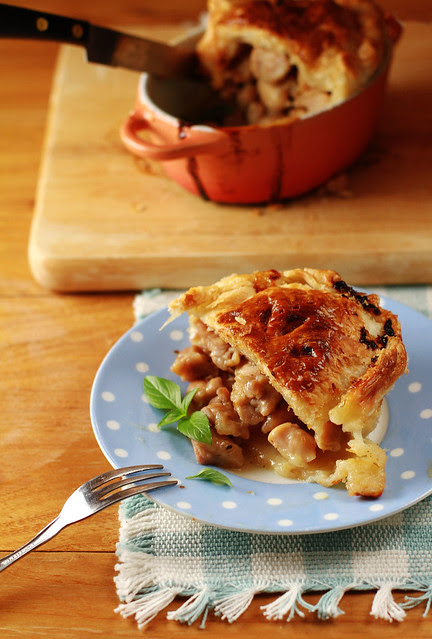 Honey Lemon Basil Chicken Pie