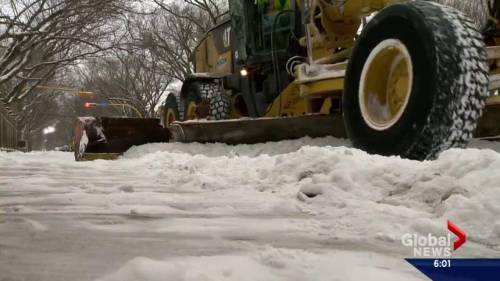 Calgary spending $1M a week for snow removal | Watch News Videos Online