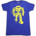 Ames Bros Man-Bot Vintage Graphic T-Shirt - Blue