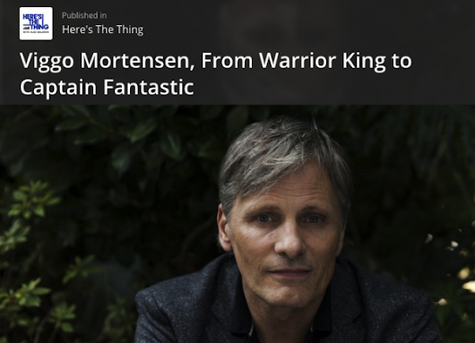 Quote of the week, from Viggo Mortensen