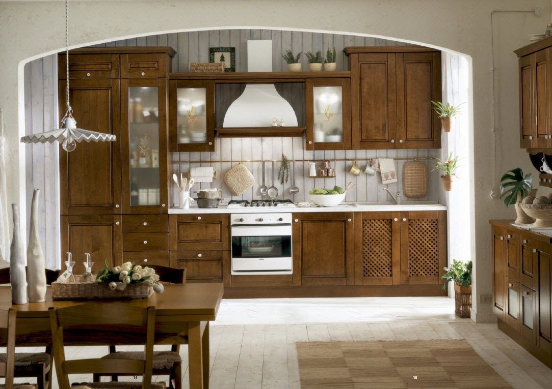 Classic kitchen in stained solid wood - GIUSY - Corazzin Group ...