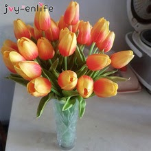 10pcs Garden Tulips Artificial Flowers Real touch Home  decoration