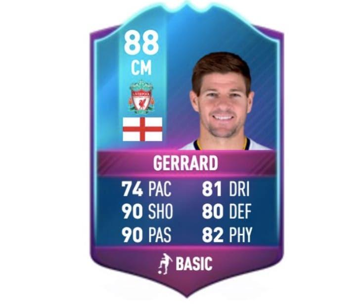 Steven Gerrard SBC Legend card for FIFA 17 hype - Product ...