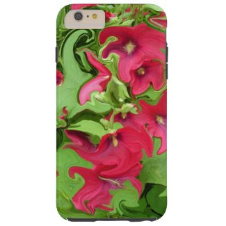 Red Hollyhock Design Samsung Galaxy 6s Cover Tough iPhone 6 Plus Case